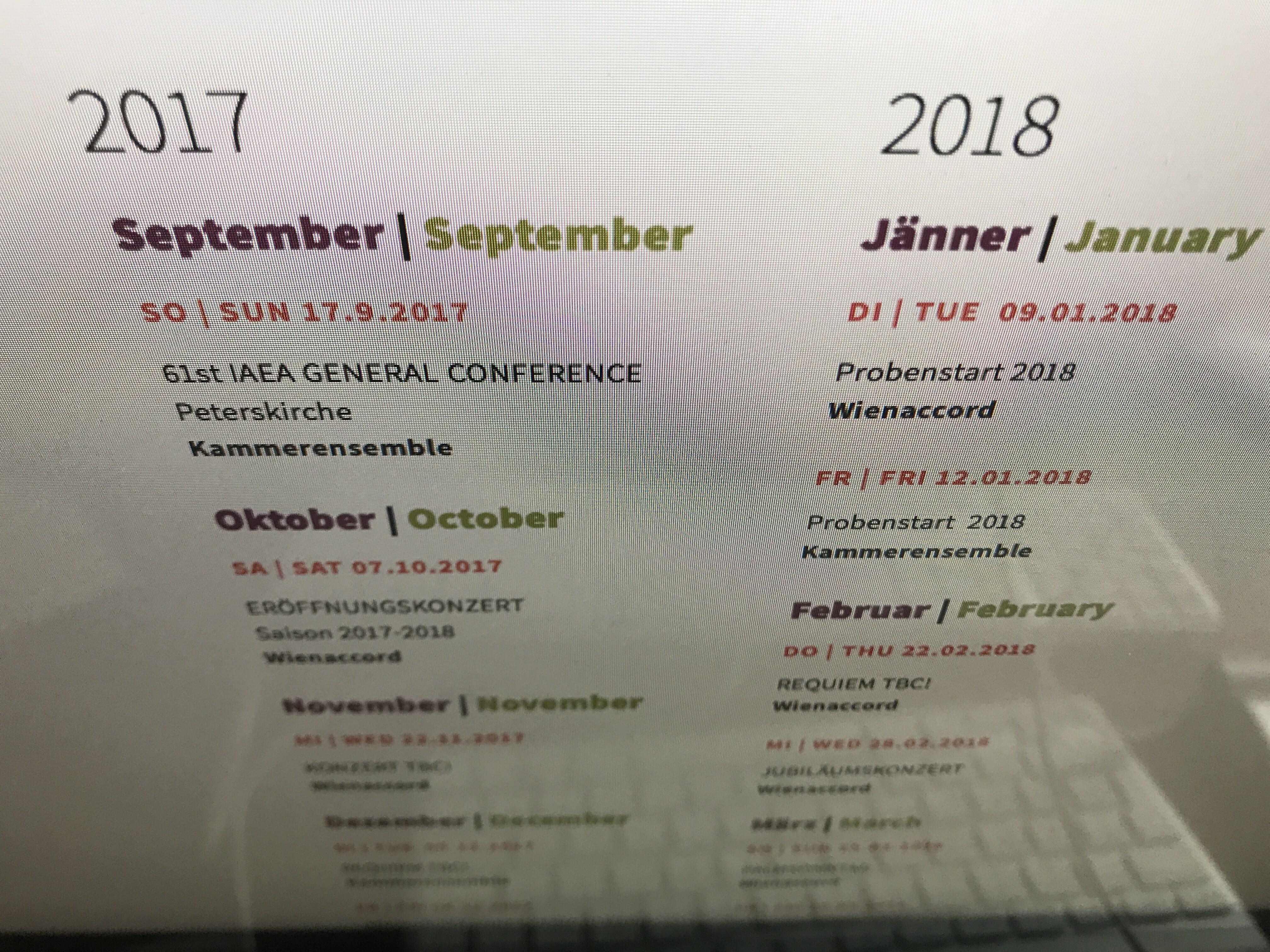 : Jahresplan