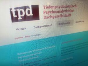 Dechant_Webseiten_Referenz TPD Psychoanalytische Dachgesellschaft